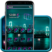 Neon City Night Theme Android APK Download Free By Fancy Theme Palace