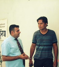 Photo: At Yashpal Foundation Event with Dr. Anirudh Yashpal & my Voice of Dignity Poetry Award (2009)