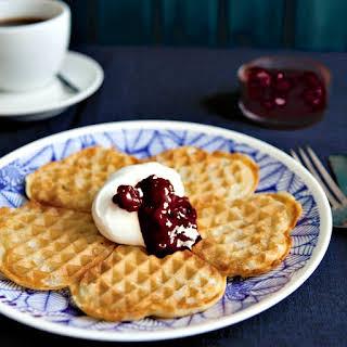 Authentic Swedish Waffles.