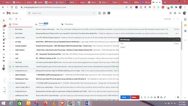 Send bulk mail in Gmail