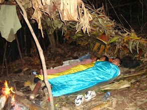 Photo: Stay in jungle camp made by tourists-3 Days Nam Ha Jungle Camp in Luang Namtha, Laos