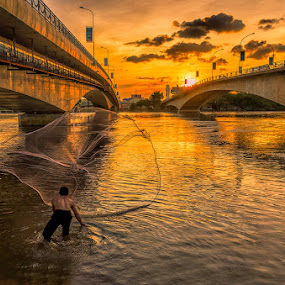 Sunset fishing by Liquid Lens - People Street & Candids