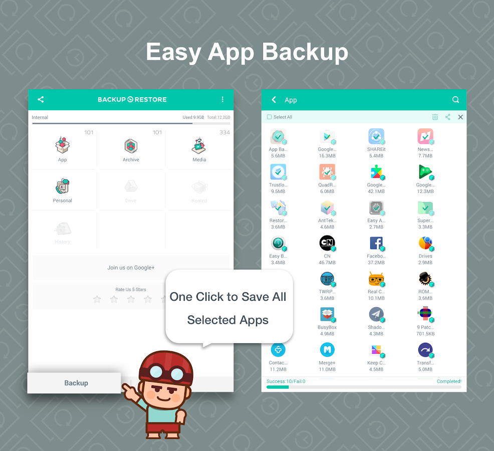 App Backup Restore - Transfer- screenshot