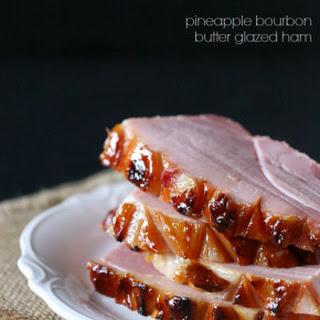 Pineapple Bourbon Butter Glazed Ham