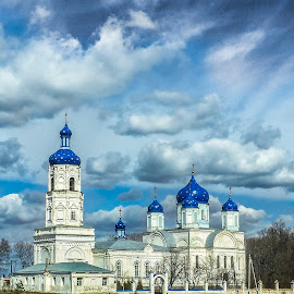 The church in Russia by Aydın Kurhan - Instagram & Mobile iPhone ( russian blue, russia, church, mobile photos, iphone )