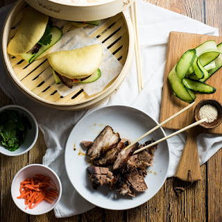 Braised BBQ Pork Belly Steamed Buns (Gua bao)