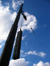 Photo: pulley tensioner for tram overhead lines