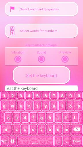 霓虹粉紅色鍵盤主題