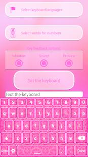 Neon Růžové Klávesnice Témata - náhled