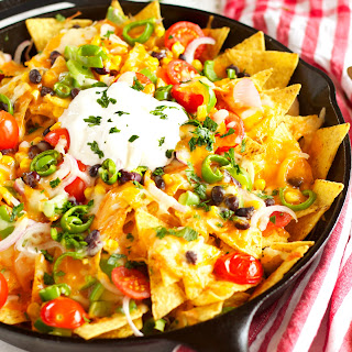 Healthy Vegetarian Nachos.
