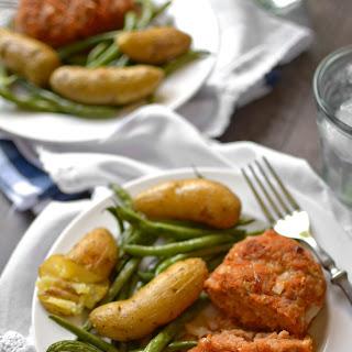 Sheet Pan Mini Turkey Meatloaf Dinner.