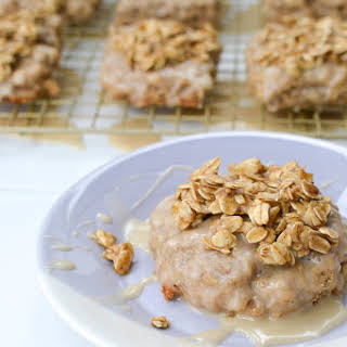 Maple Glazed Oatmeal Scones With Brown Sugar Oat Crumble.