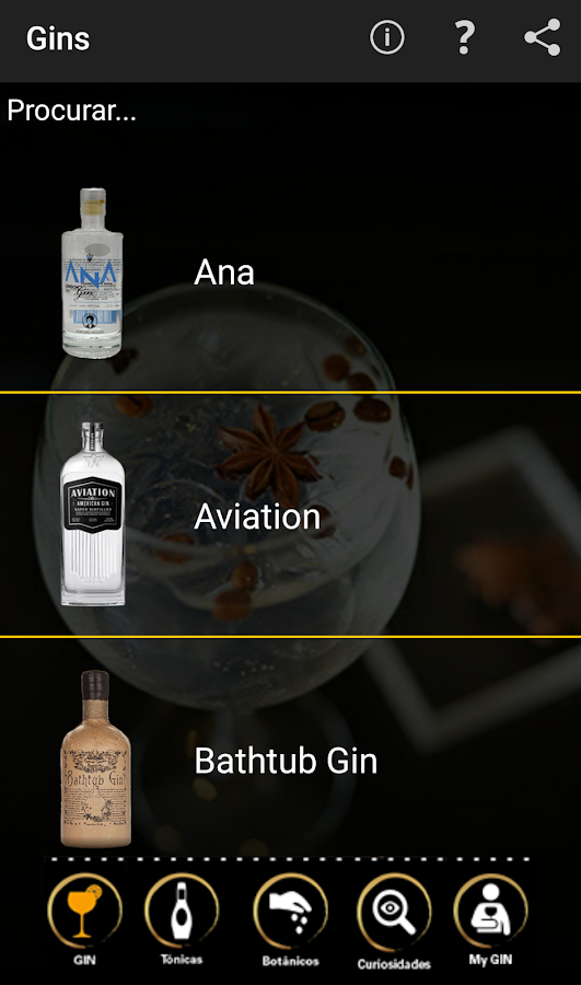 Gin Tonic App by Cocktail Team- screenshot
