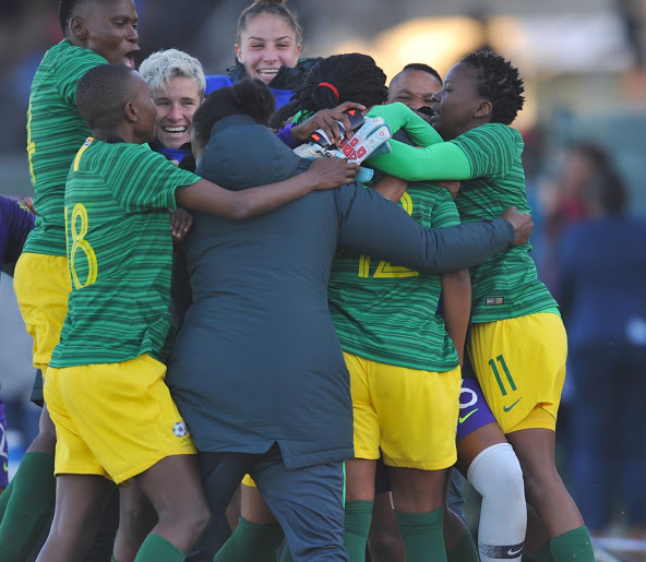 Banyana Banyana in celebration. File picture