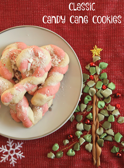 Classic Candy Cane Cookies are the perfect sweet treat for the holidays