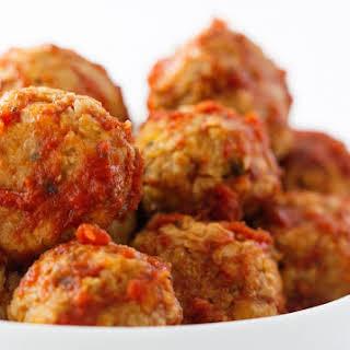 Chickpea Balls in Marinara Sauce.