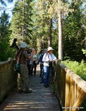 Photo: Buena Vista Audubon birders at Deschutes Land Trust's Metolius Preserve, Lake Creek, Jefferson County, OR