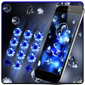Blue Bling Diamond Theme