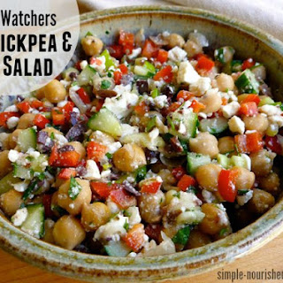 Weight Watchers Chickpea & Feta Salad.