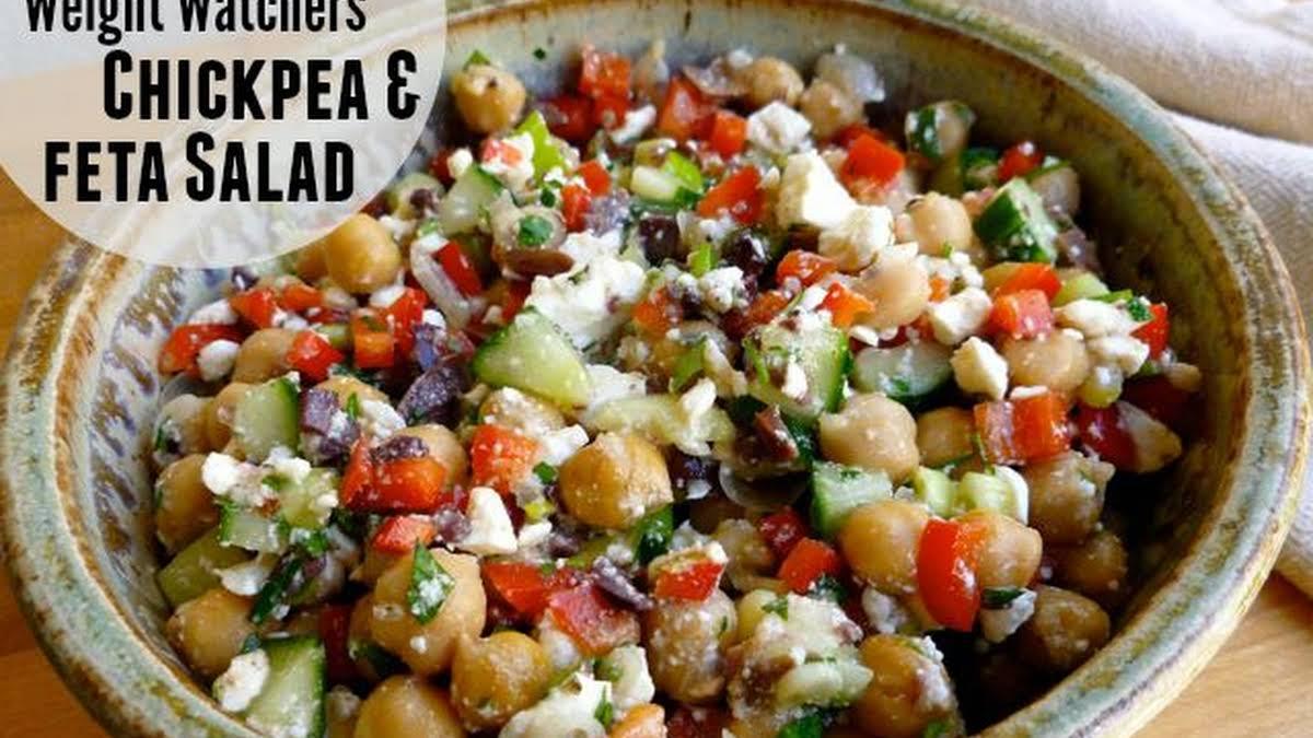 Weight Watchers Chickpea Feta Salad