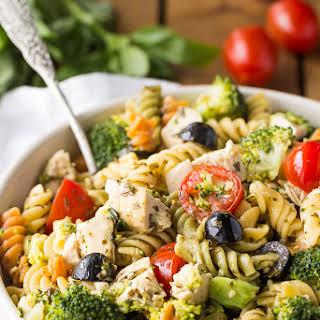 Pesto Chicken Pasta Salad.