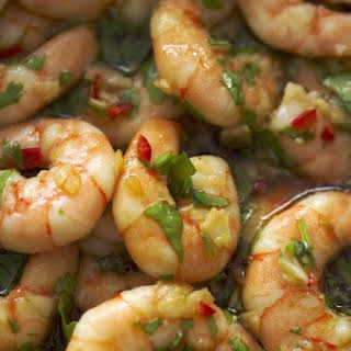 Chilli and Coriander Prawns.