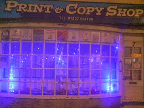 Photo: Even the photocopier shop on North St. making a valiant attempt.