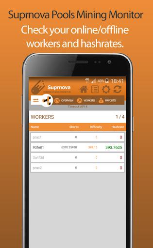 Suprnova Pools Mining Monitor  screenshots 4