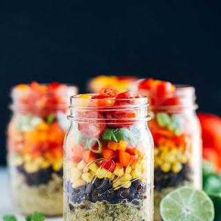 Southwestern Quinoa Mason Jar Salads.