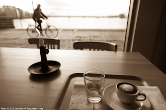 Photo: Coffee shop with view.