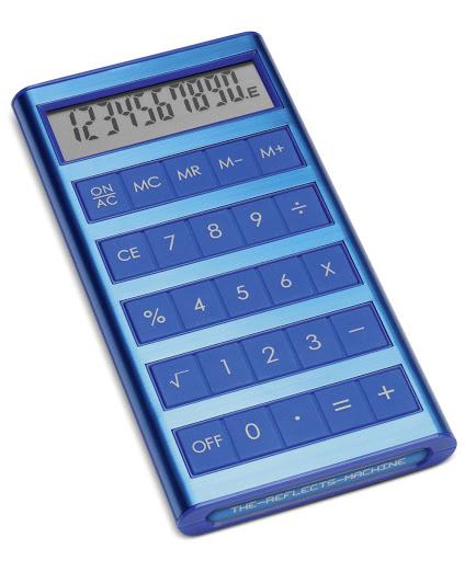 Reflects Machine Calculator - Blue