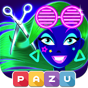 Girls Hair Salon Glow - Hairstyle games for kids