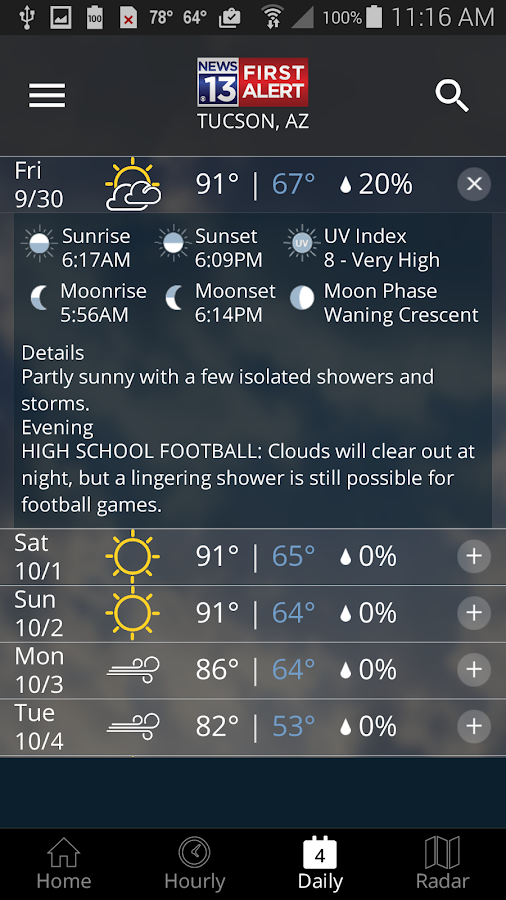 TucsonNewsNow Weather Now- screenshot