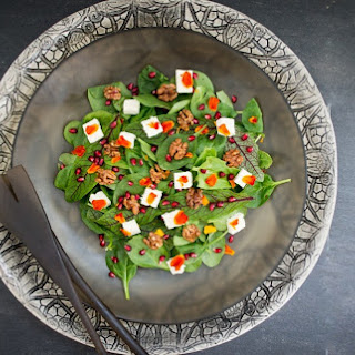 Pomegranate and Maple Spiced Walnut Salad