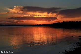 Photo: Sonnenuntergang bei Chieming ...