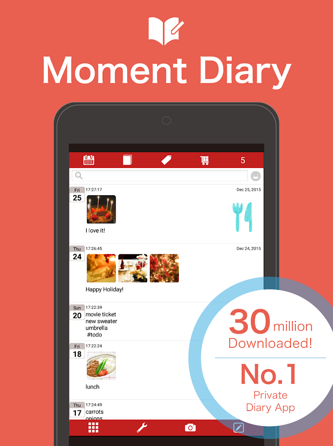 Moment Diary- screenshot