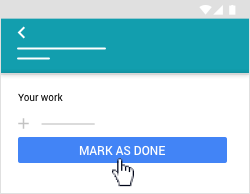 Tap Mark As Done
