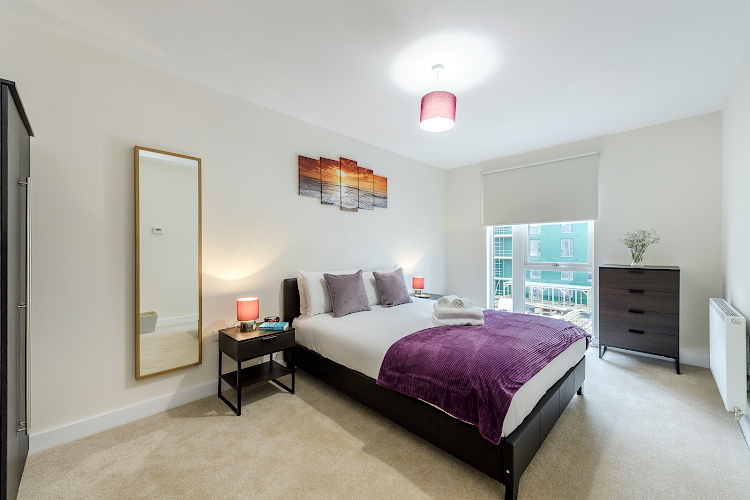 Bedroom at Colindale apartment
