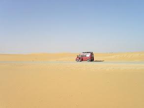 Photo: w drodze do Nouakchott - pomarańczowe wydmy