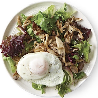 Wild Mushroom Salad with Fried Eggs