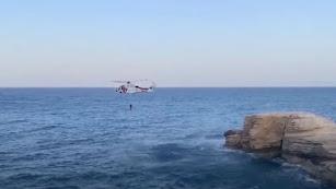 Rescate en helicóptero en Rodalquilar.