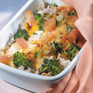Gemüse-Reis-Gratin mit Speck