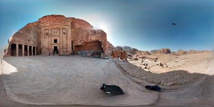 Photo: (Petra 3 of 6) Top of the tomb complex. There are many tombs here that look much like what you saw in Indiana Jones