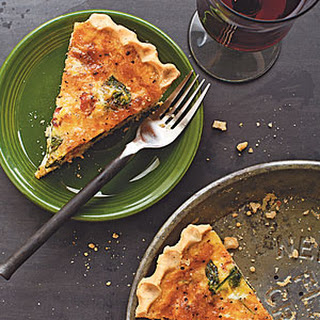 Spinach, Bacon, and Cheese Quiche.