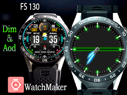 FS 130 Digital Watch Face For WatchMaker Users Screenshot