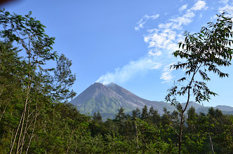 Photo: Steam escaping from Merapi