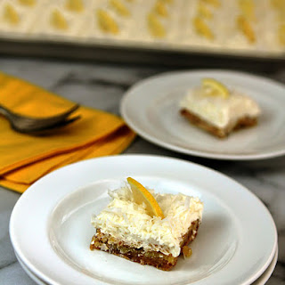 Nordstrom's Lemon and Coconut Bars with Whipped Cream and Mascarpone Topping.