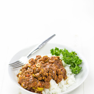 Picadillo Mexican Beef over Rice.