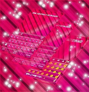 Pink Abstract Keyboard - náhled