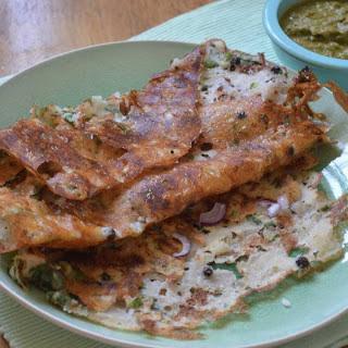 Onion Rava Dosa Recipe (Spiced Semolina Crepe)